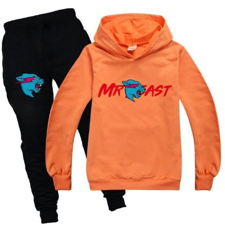 Mr Beast Lightning Cat Clothes Set Kids Tracksuit Boys SportSuits