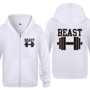 Beast Fitness Novelty Hoodies Men 2018 Men's Fleece Zipper Cardigans