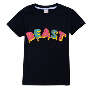 Mr Beast Lightning Cat Cool Round Neck T-shirt Summer Children Casual Cozy Tee Shir