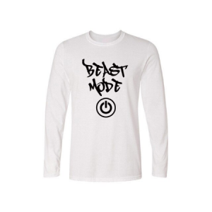 Spring Autumn BEAST MODE ON Custom Printed New Fashion O-Neck Long Sleeve T-shirt